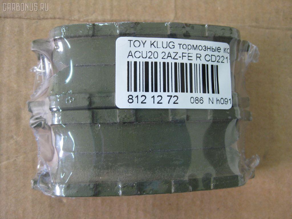 Тормозные колодки TOYOTA KLUGER V ACU20 2AZ-FE. Фото 4