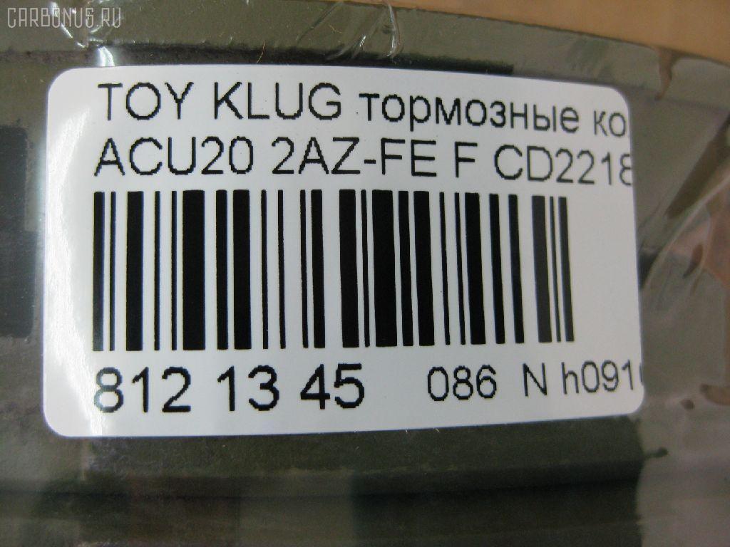 Тормозные колодки TOYOTA KLUGER V ACU20 2AZ-FE Фото 5