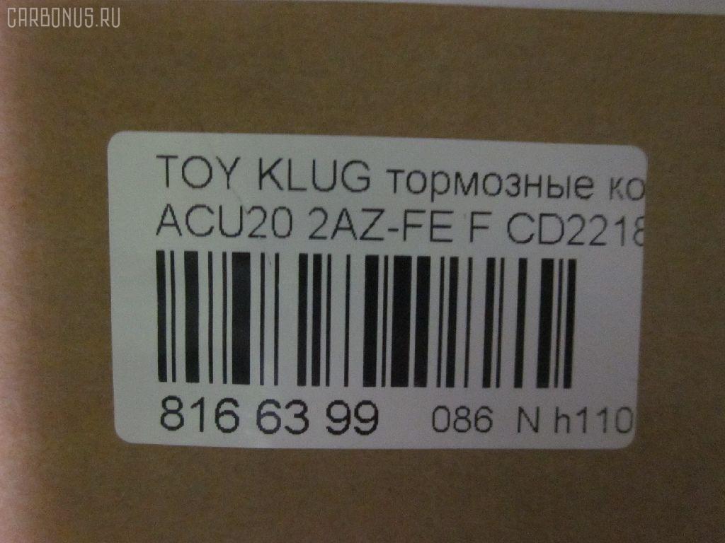 Тормозные колодки TOYOTA KLUGER V ACU20 2AZ-FE Фото 4