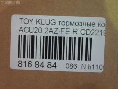 Тормозные колодки TOYOTA KLUGER V ACU20 2AZ-FE Фото 2