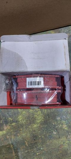 Тормозные колодки на Peugeot 206 2AHFX HFX-TU1JP TADASHI TD-086-6796, Переднее расположение
