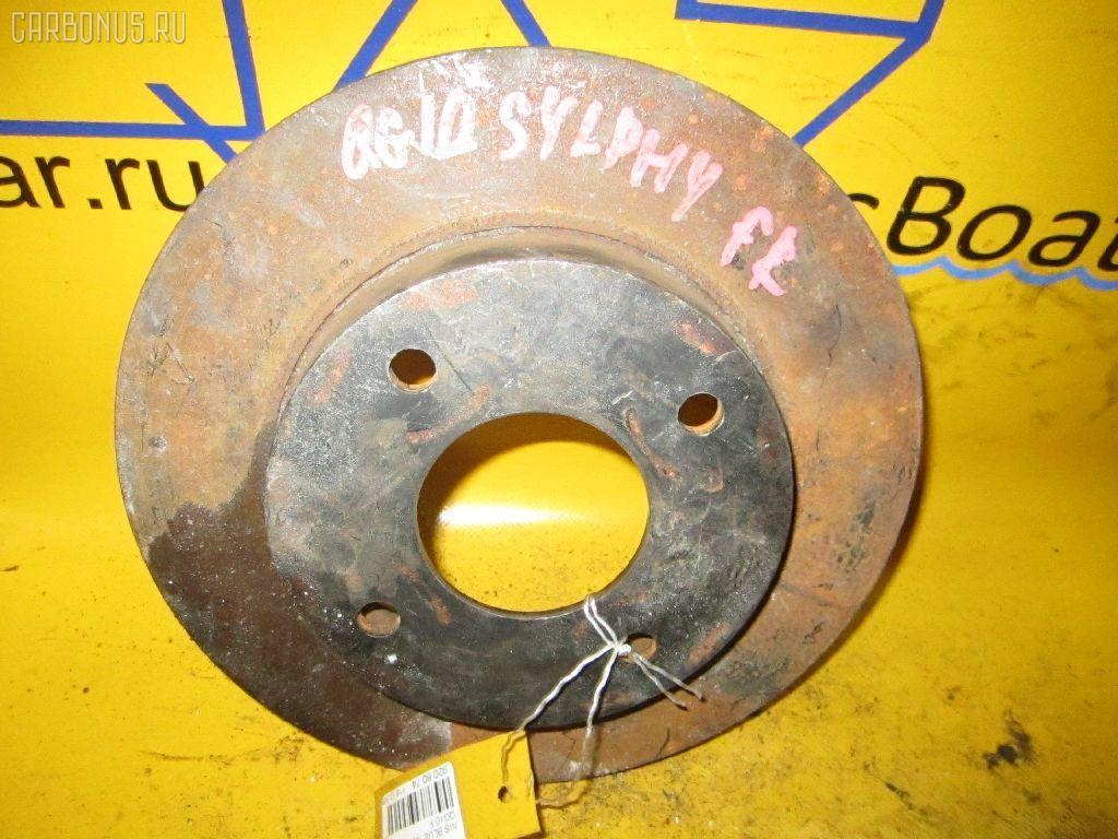 Тормозной диск NISSAN BLUEBIRD SYLPHY QG10. Фото 1