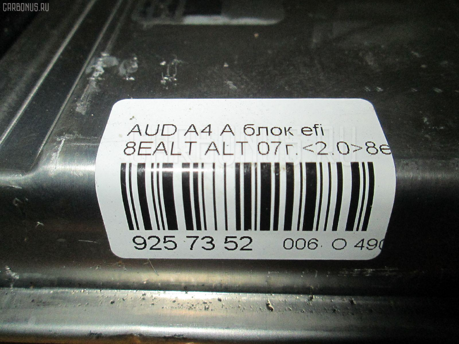 Блок EFI AUDI A4 AVANT 8EALT ALT Фото 4