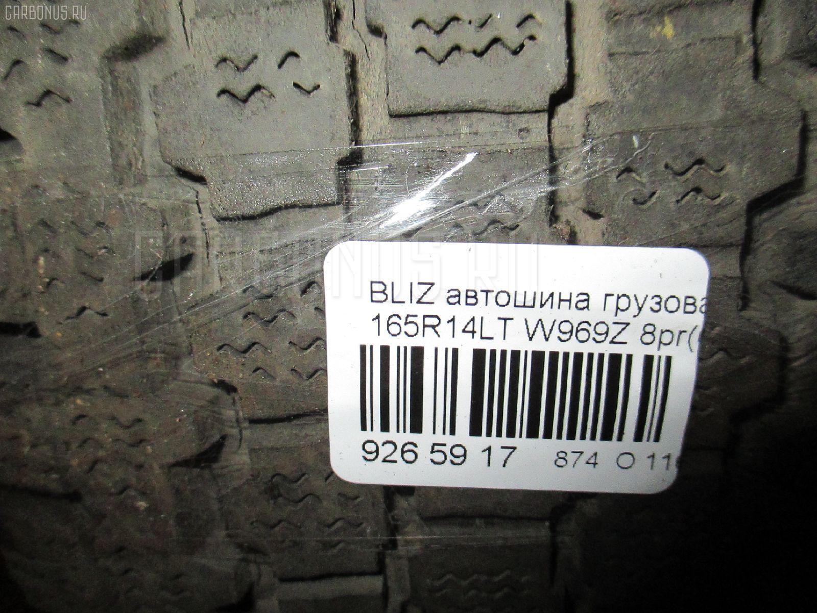 Автошина грузовая зимняя BLIZZAK REVO W969 165R14LT BRIDGESTONE W969Z Фото 4