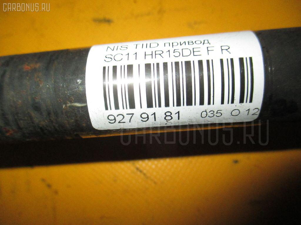 Привод NISSAN TIIDA LATIO SC11 HR15DE Фото 2