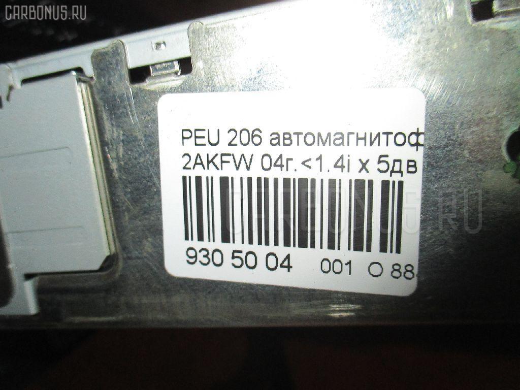 Автомагнитофон PEUGEOT 206 2AKFW Фото 3