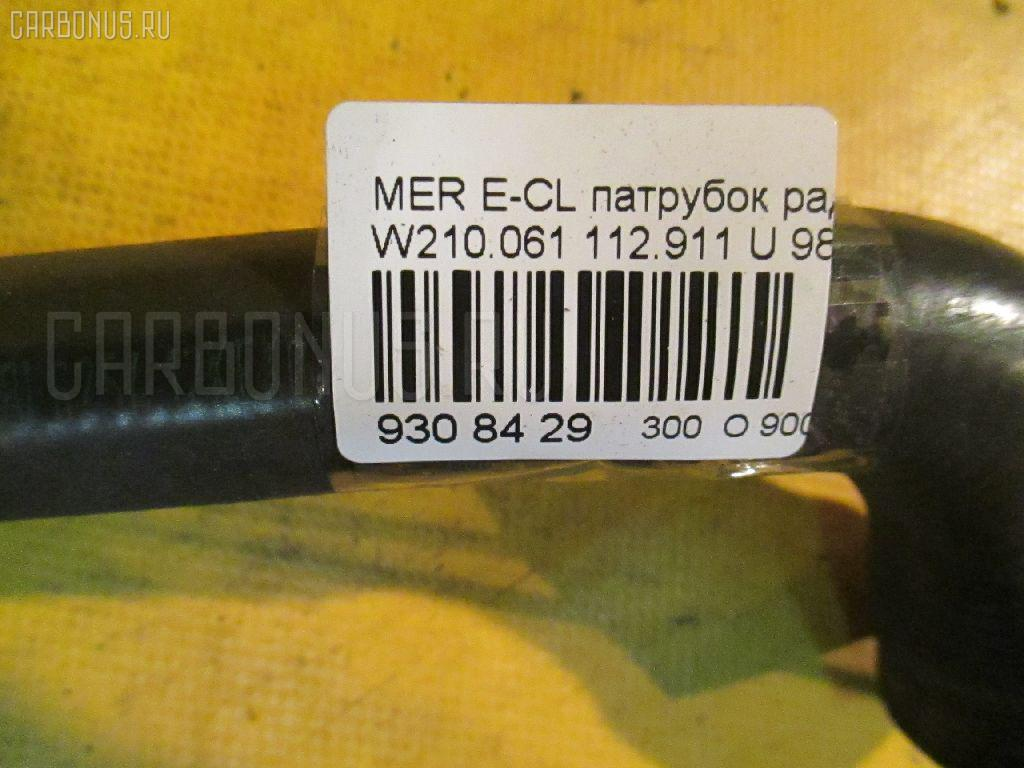 Патрубок радиатора ДВС MERCEDES-BENZ E-CLASS W210.061 112.911 Фото 2