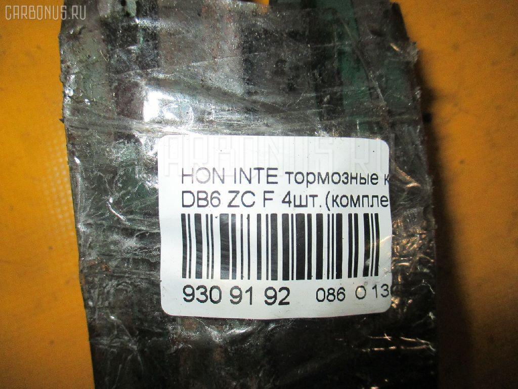 Тормозные колодки HONDA INTEGRA DB6 ZC Фото 3
