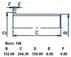 Гильза блока цилиндров SST ST-241-1001 на Hino Truck F20C Фото 3