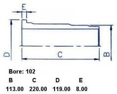 Гильза блока цилиндров SST ST-241-1003 на Isuzu DA640B Фото 5