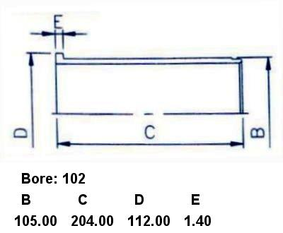 Гильза блока цилиндров ISUZU 4BB1. Фото 4