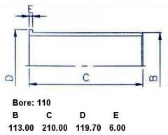 Гильза блока цилиндров SST ST-241-1005 на Isuzu Forward 6HE1-T Фото 7