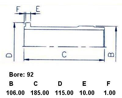Гильза блока цилиндров KOMATSU 4D92. Фото 5
